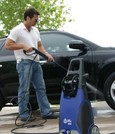 AR Blue Clean AR383 Pressure Washer Vehicle Cleaning