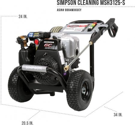 Size of the SIMPSON Cleaning MSH3125-S Pressure Washer