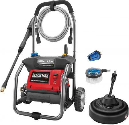Black Max 1,800 PSI Electric Pressure Washer with Cleaning Kit