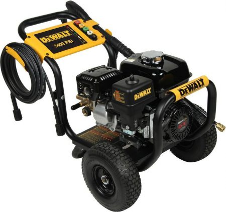 DeWalt Professional 3400 PSI Gas Pressure Washer Side View