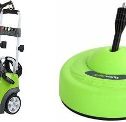 GreenWorks 1950 PSI 1.2 GPM Pressure Washer + Surface Cleaner