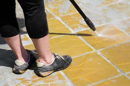 Wearing Improper Footwear While Pressure Washing Can Lead to Injury